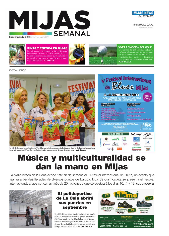 Mijas Semanal Nº429 Del 3 al 9 de junio de 2011 by Mijas Semanal - issuu