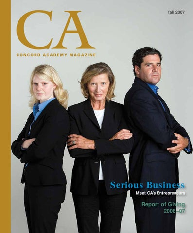 Fall 2007 Ca Magazine By Concord Academy Issuu