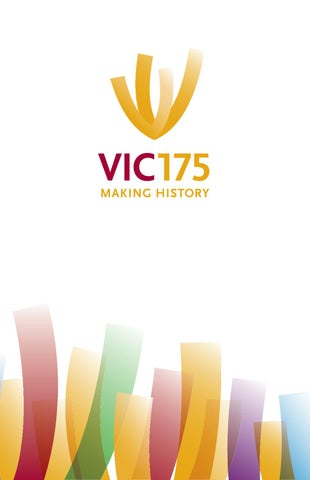 Vic 175 making history invitation by victoria university in the page 1 stopboris Images