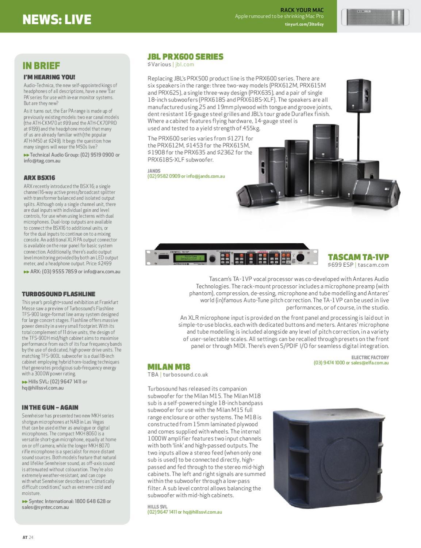 AudioTechnology Issue 81 by Alchemedia Publishing - issuu