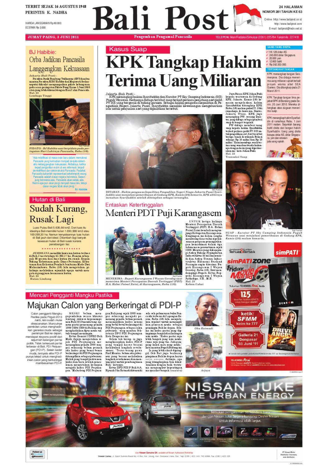 Edisi 3 Juni 2011 Balipostcom By E Paper Kmb Issuu Produk Ukm Bumn Wisata Mewah Bali 3hr 2mlm
