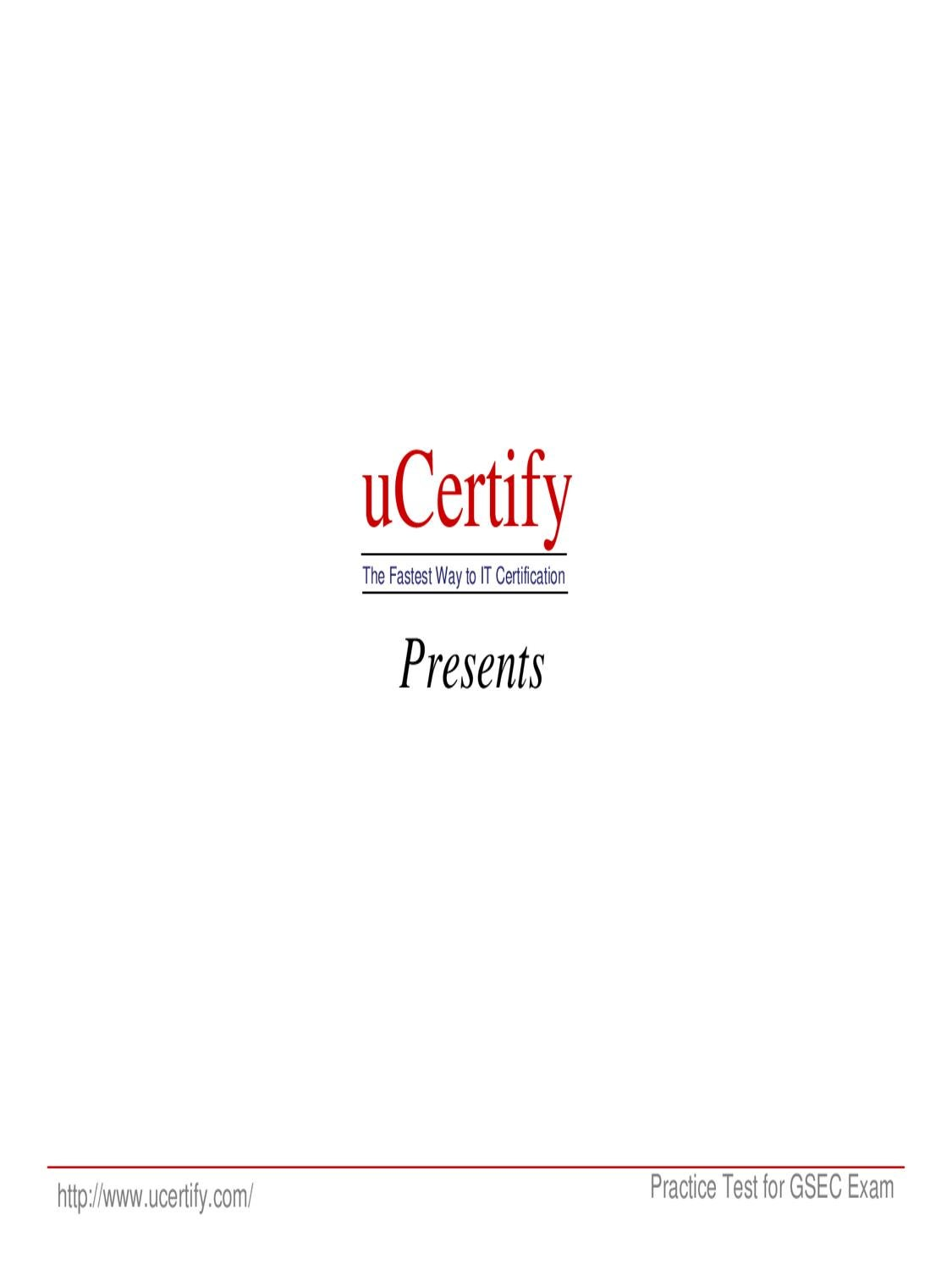 Ucertify gsec practice questions pdf by ucertify certification issuu xflitez Images