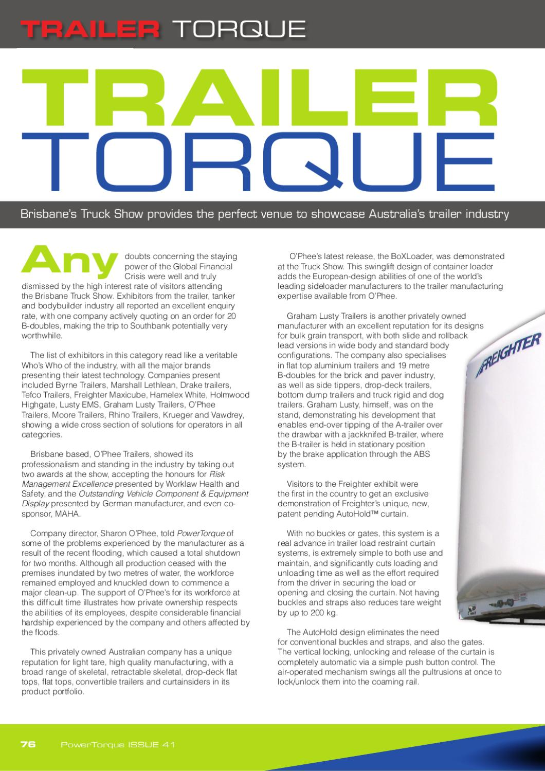 PowerTorque Issue 41 by Motoring Matters Magazine Group - issuu
