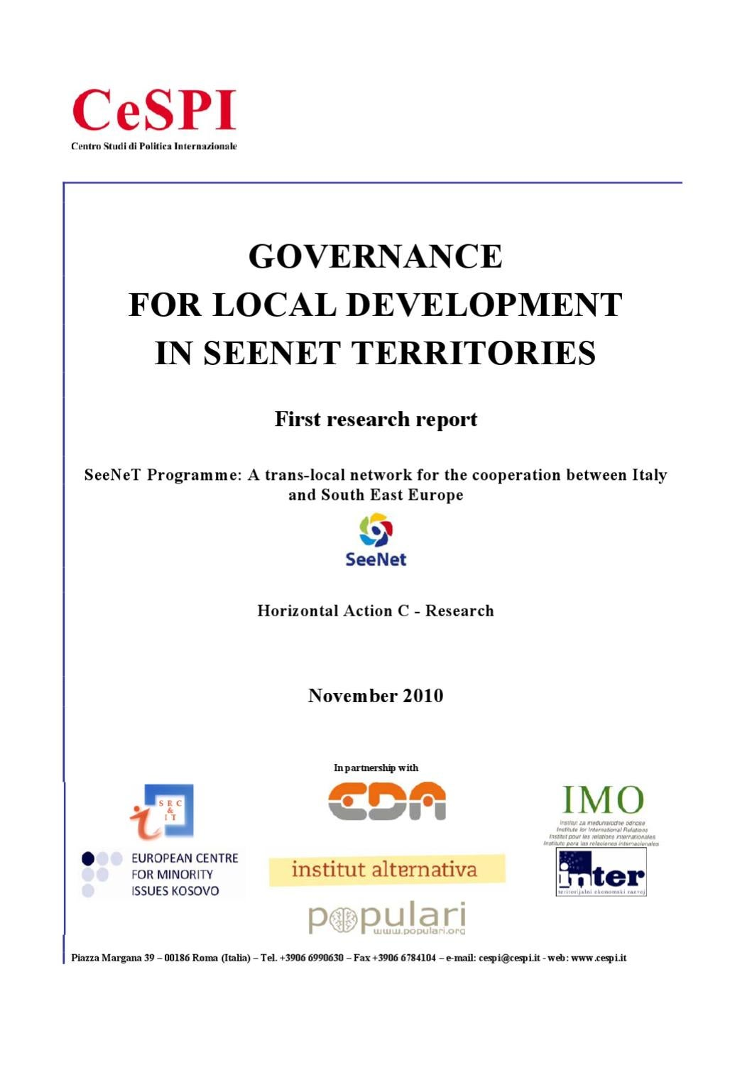 An Overview On Governance For Local Development In Seenet Wiring Diagram A 628401 Territories By Institute Territorial Economic Inter Issuu