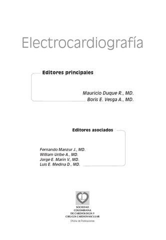 LIBRO ELECTROCARDIOGRAFÍA by Eduardo Barreneche - issuu