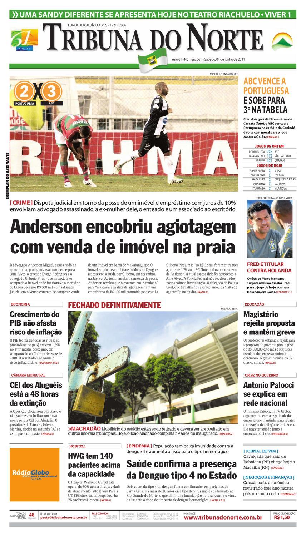 9e4e66bd40 Tribuna do Norte - 04 06 2011 by Empresa Jornalística Tribuna do Norte Ltda  - issuu