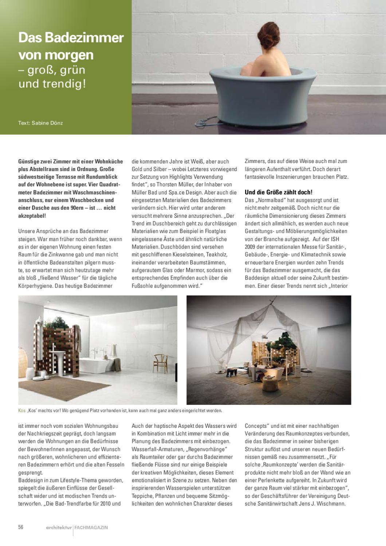 """architektur magazin:""""das badezimmer von morgentorsten mueller2011, Badezimmer ideen"""