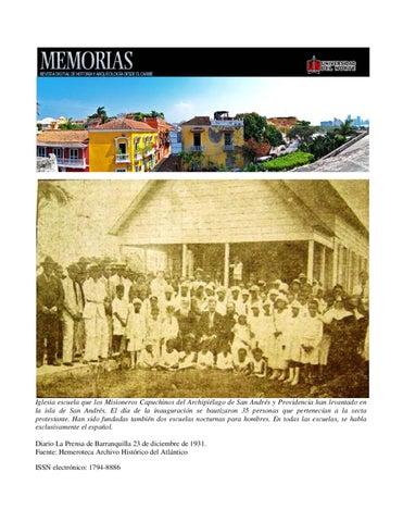 Iglesia escuela que los Misioneros Capuchinos del Archipiélago de San  Andrés y Providencia han levantado en la isla de San Andrés. El día de la  inauguración ... 68aa4842ea5