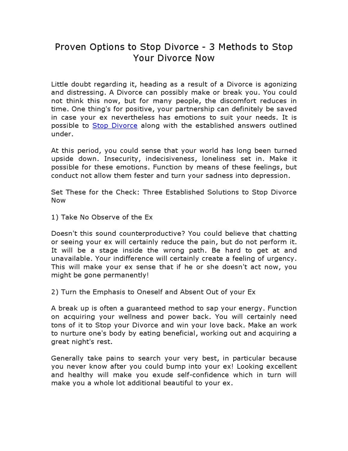 Stop Divorce - Save Your Marriage Today - Here's How    by