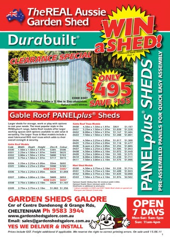 Garden Sheds Galore whatsonsale - issuu