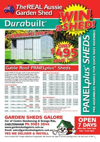 garden sheds galore
