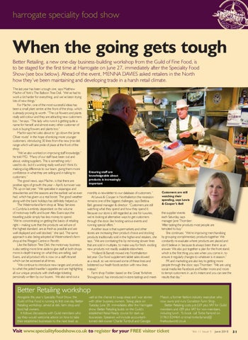 Harrogate Speciality Food Show By Guild Of Fine Food Issuu