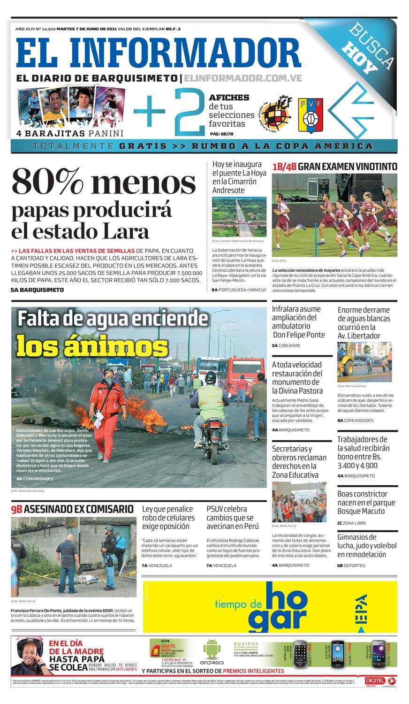 El Informador impreso 2011.06.07 by El Informador - Diario online  Venezolano - issuu e829ce6f60d