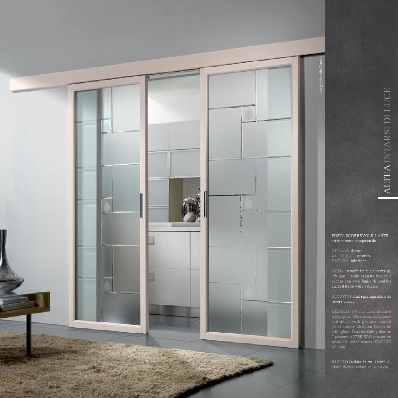 Altea porte vetro di gusto contemporaneo by cristal s r for Porte blindate con vetro leroy merlin