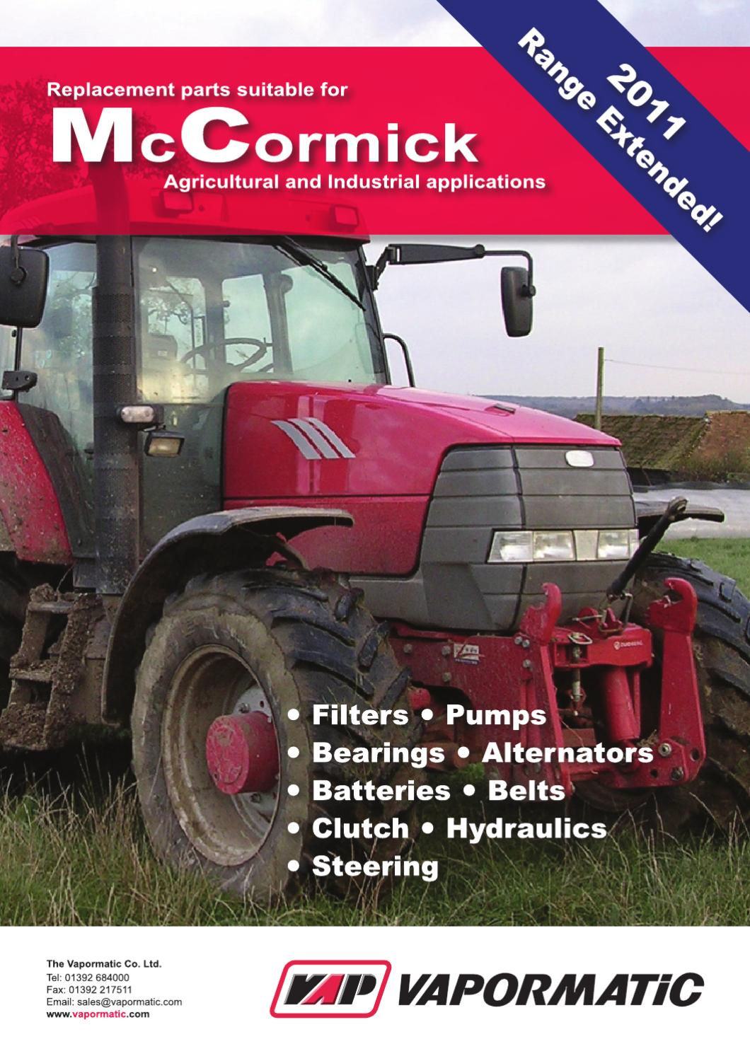 Vapormatic replacement service filters for McCormick tractors by The  Vapormatic Co. Ltd. - issuu