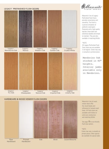 Page 3. leGacy Prefinished flush doors ™ : legacy door - pezcame.com
