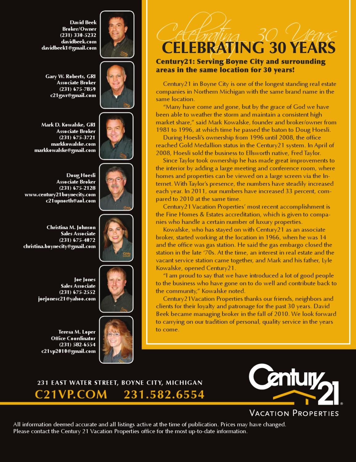 Century 21 -- Lifestyle: Resort and lakefront property guide