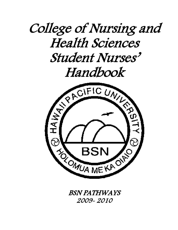 Collaborative Nursing Student Handbook ~ Nursing student handbook by hawaii pacific