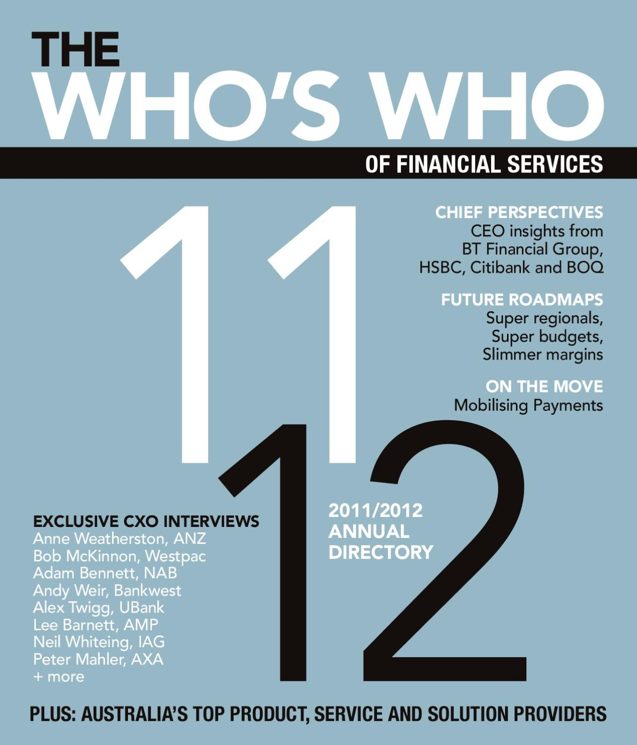 Who's Who of Financial Services 2011/12 by FST Media - issuu