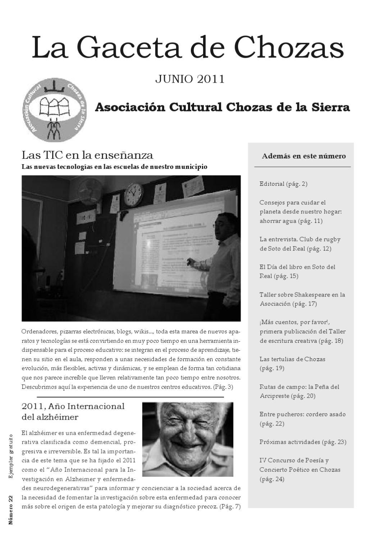 La Gaceta de Chozas n. 22 by Asociación Cultural Chozas de la Sierra ...