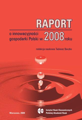 2d43325c9f5de Raport o innowacyjności gospodarki Polski w 2008 roku by Instytut ...