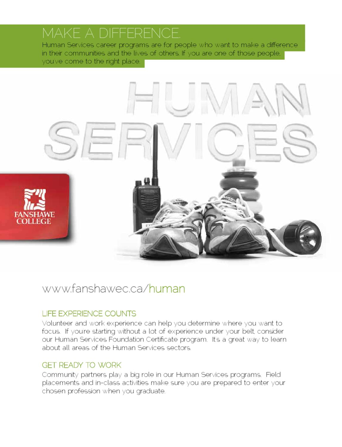 Human services cluster by fanshawe college issuu xflitez Image collections
