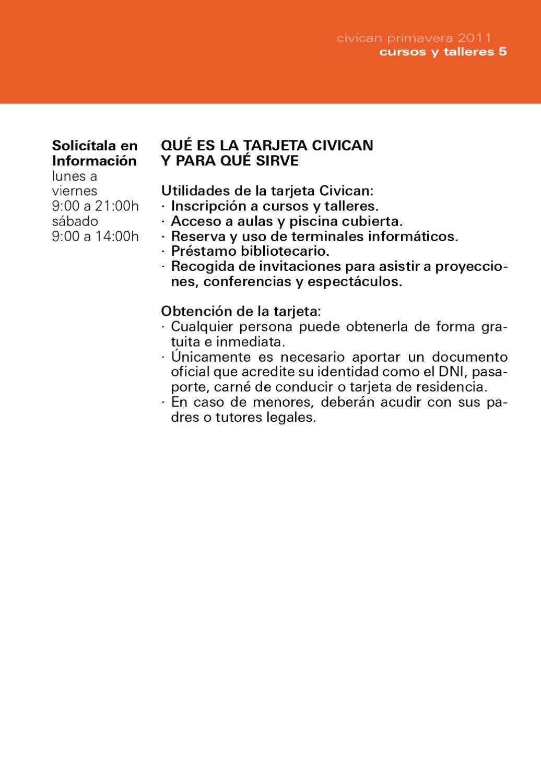 Cursos Y Talleres Verano 2011 By Civican Issuu