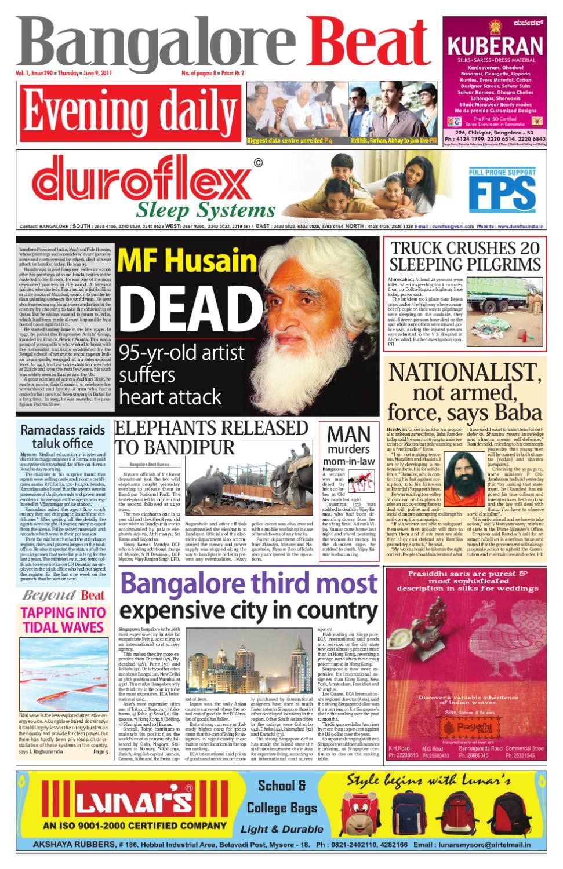Bangalore Beat Evening Newspaper - 09 06 2011 by Bangalore Beat - issuu