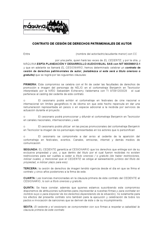 modelo contrato de actores by sara espinal ramirez - issuu