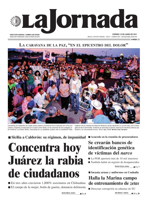 La Jornada 06102011 By La Jornada Demos Desarrollo De Medios Sa
