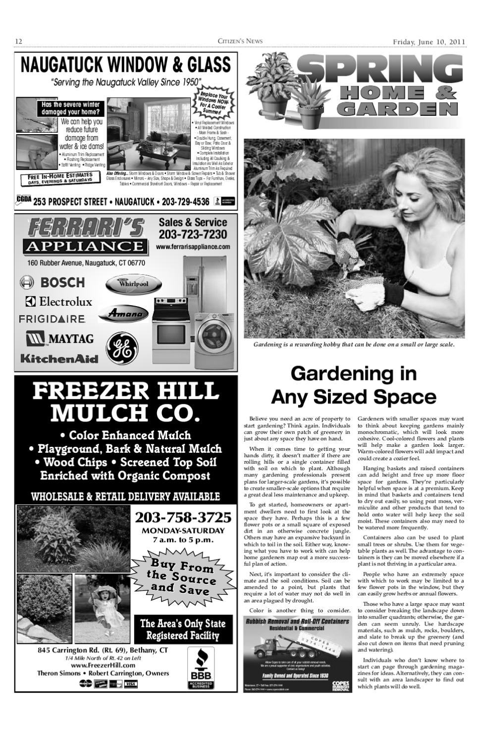 Home and garden by citizen 39 s news issuu for Naugatuck glass company