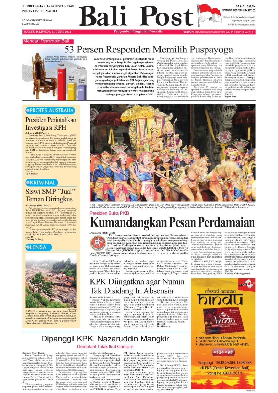 Edisi 11 Juni 2011 Balipostcom By E Paper Kmb Issuu Gendongan Bayi Depan Mbg 6201 Free Ongkir Jabodetabek