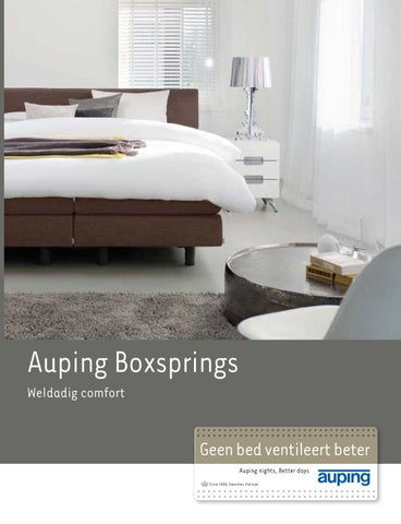Auping Kussen Breeze Latex.Auping Boxsprings By Pim Van Velsen Issuu