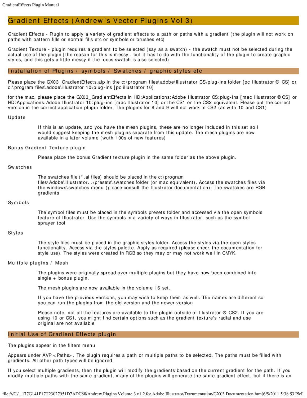 GradientEffects Plugin Manual 3 by John Williams - issuu