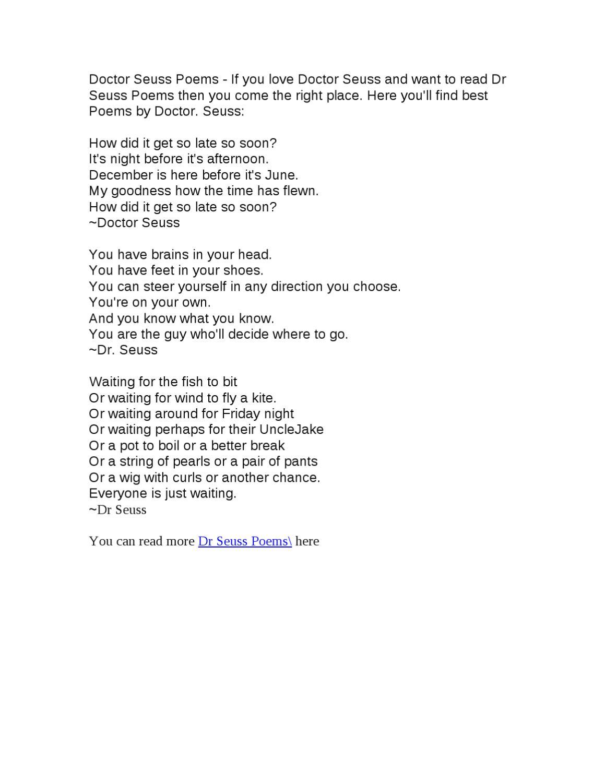 Dr Seuss poems by Mark Su - issuu