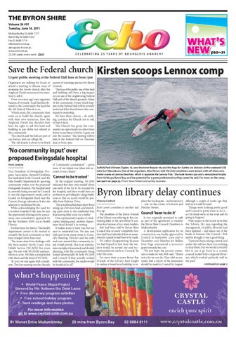 Byron Shire Echo Issue 14 06 2011 By Echo