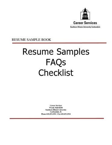 Siu Resume Sample By Southern Illinois University Carbondale Issuu