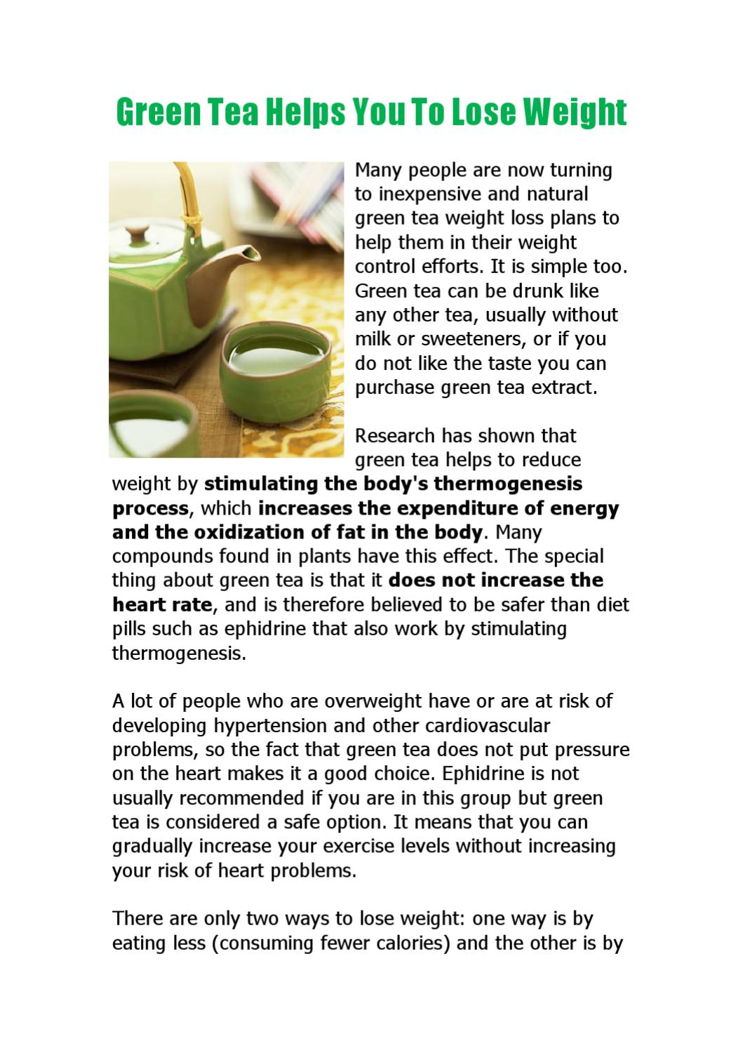 green tea helps you to lose weight by katy tse - issuu