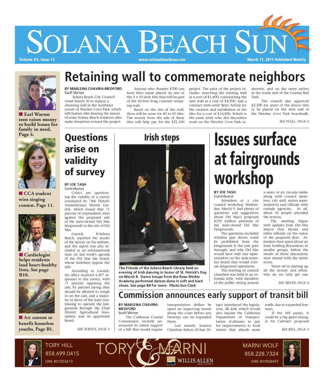 3 17 2011 Solana Beach Sun By Mainstreet Media Issuu