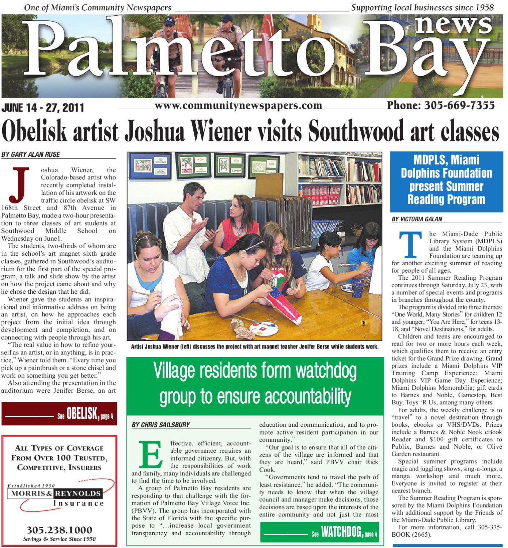 Palmetto Bay News 6 14 2011 by Community Newspapers - issuu