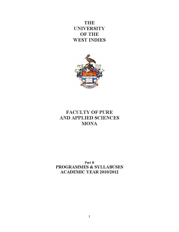 FPAS Handbook Part B Syllabuses 10 12 A4 By Odane P