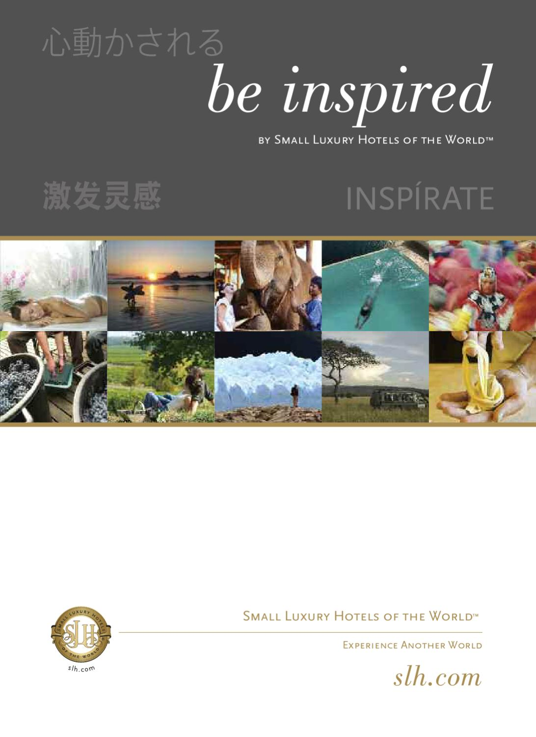 SLH Be Inspired Brochure by Strattons - issuu