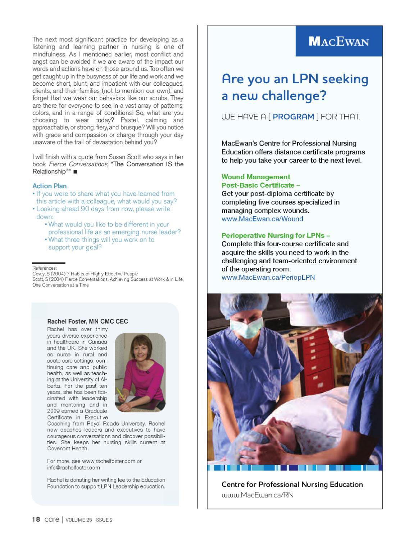 CARE - Summer 2011 | College of Licensed Practical Nurses of Alberta ...