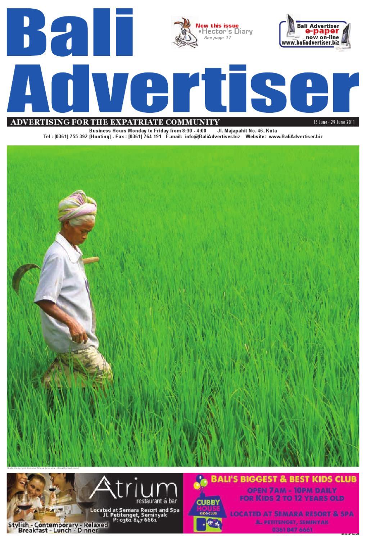 Ba 15 June 2011 By Bali Advertiser Issuu Huawei Mifi Pahe Grapari Mataram