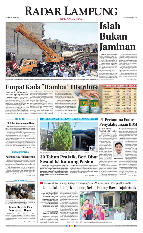 Radar Lampung Rabu 15 Juni 2011 By Ayep Kancee Issuu Celana Pria Pendek Dry Fit Merah Cln 654