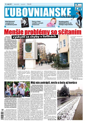 776bb8bf4 Ľubovnianske noviny č. 21 by Vladimir Zima - issuu