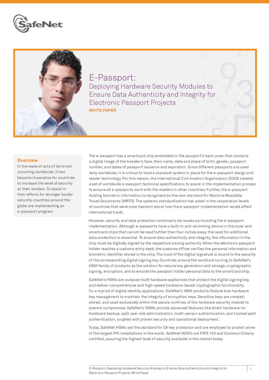 ePassport_WP_(EN)_A4_web by SafeNet Inc - issuu