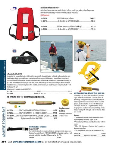 Mercer's Marine & Outdoor 2011-2012 Product Catalogue by