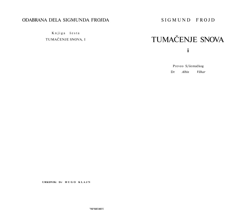 Sigmund Freud Tumacenje snova 1 by ALGBRAL del hell issuu
