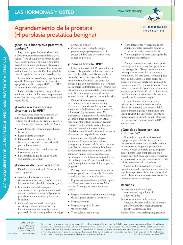 prueba de PSA para agrandamiento de la próstata